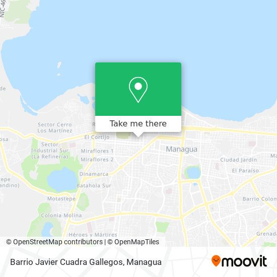 Barrio Javier Cuadra Gallegos map