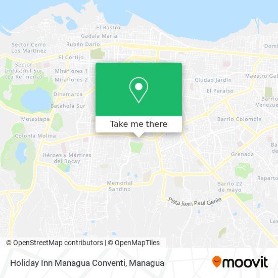 Holiday Inn Managua Conventi map
