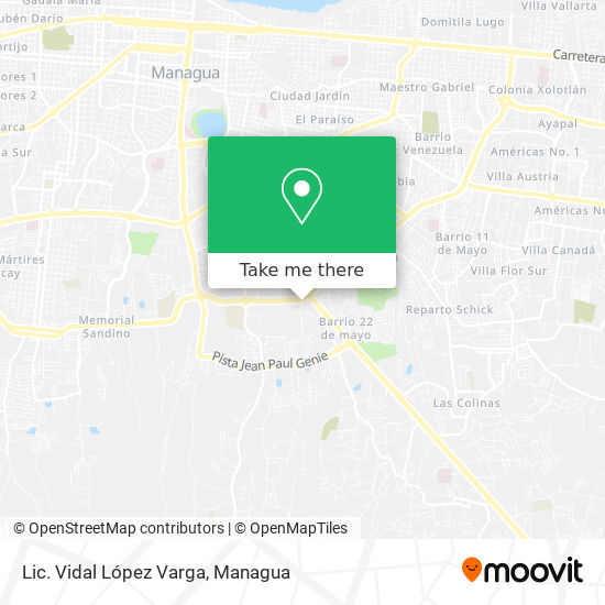 Lic. Vidal López Varga map