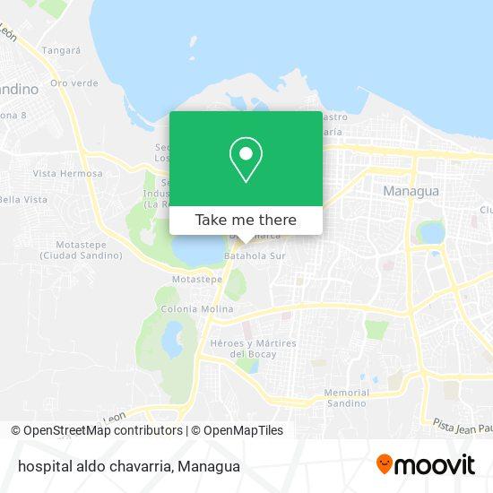 hospital aldo chavarria map