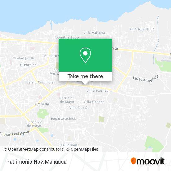 Patrimonio Hoy map