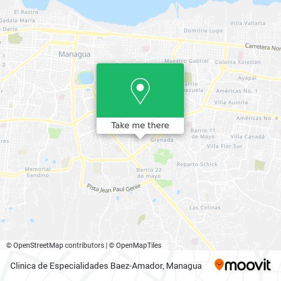 Clinica de Especialidades Baez-Amador map