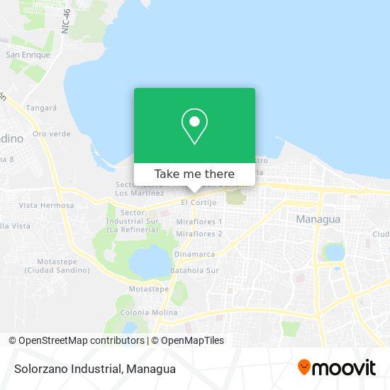 Solorzano Industrial map