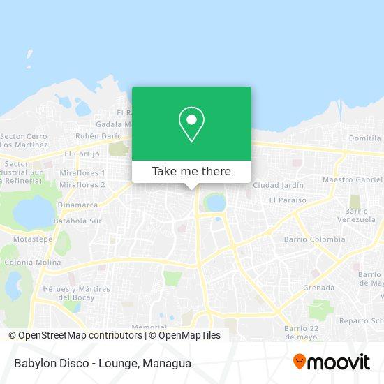 Babylon Disco - Lounge map