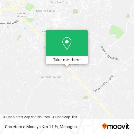Carretera a Masaya Km 11 ½ map