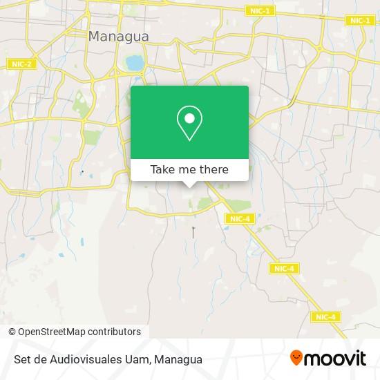 Set de Audiovisuales Uam map