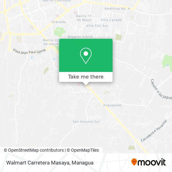 Walmart Carretera Masaya map