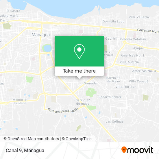 Canal 9 map