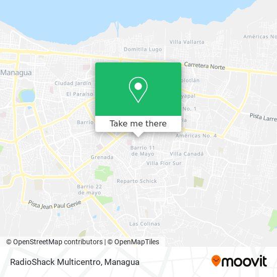 RadioShack Multicentro map