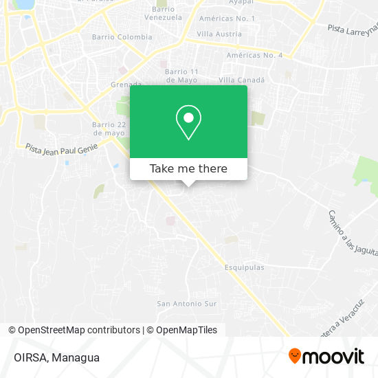 OIRSA map