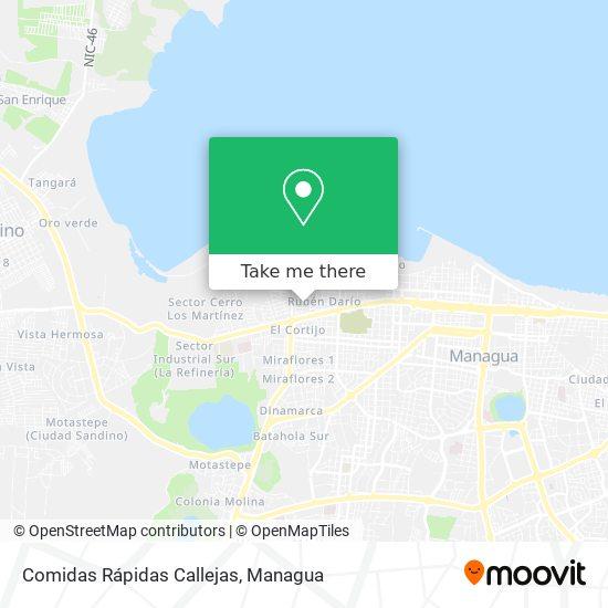 Comidas Rápidas Callejas map