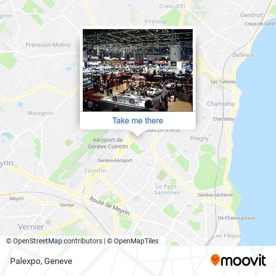 Palexpo map