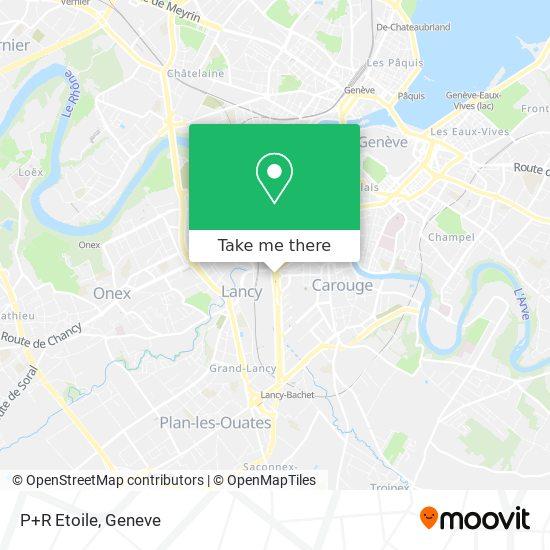 P+R Etoile map