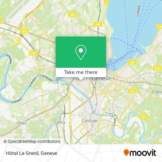 Hôtel Le Grenil map