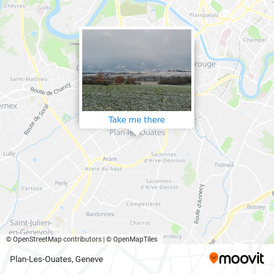 Plan-Les-Ouates map