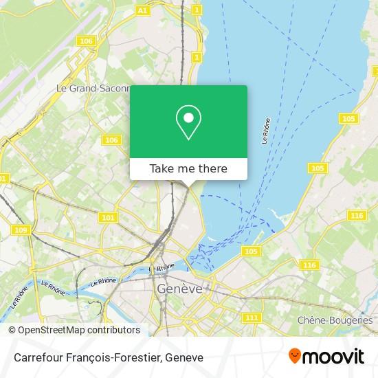 Carrefour François-Forestier map