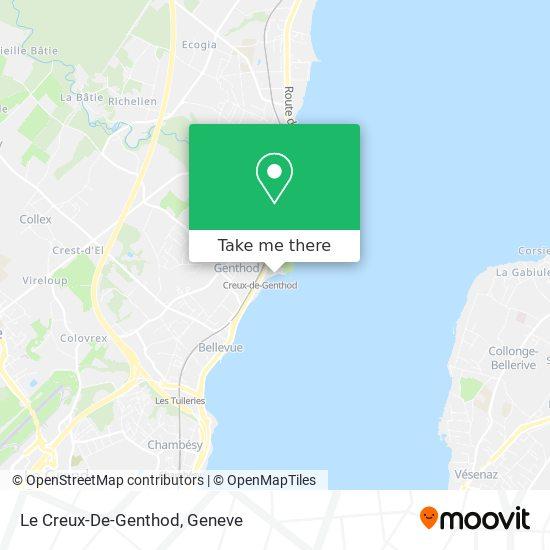 Le Creux-De-Genthod map