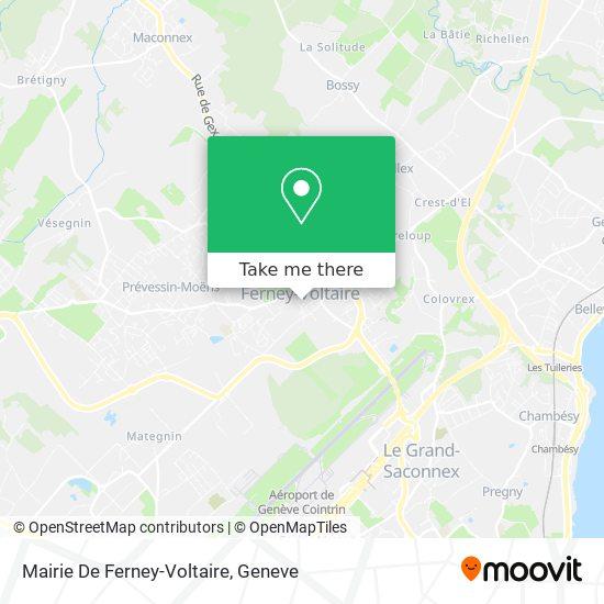 Mairie De Ferney-Voltaire map