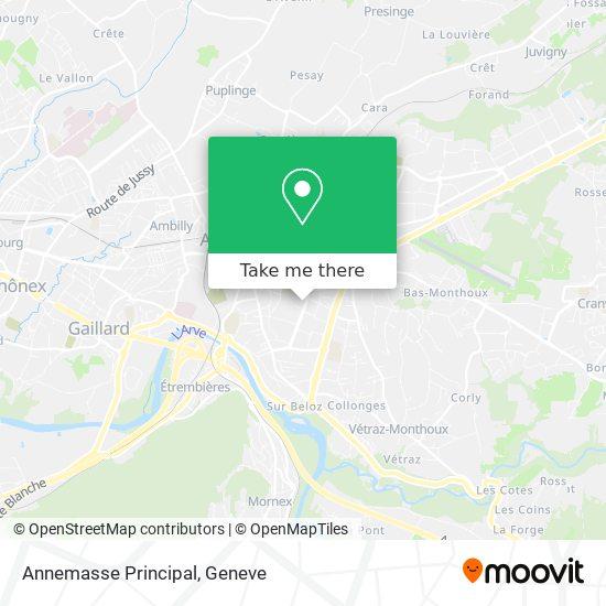 Annemasse Principal map