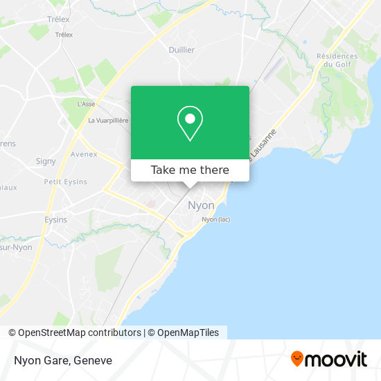 Nyon Gare map