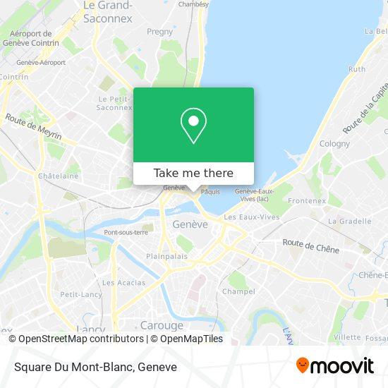 Square Du Mont-Blanc map