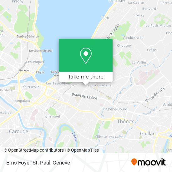 Ems Foyer St. Paul map