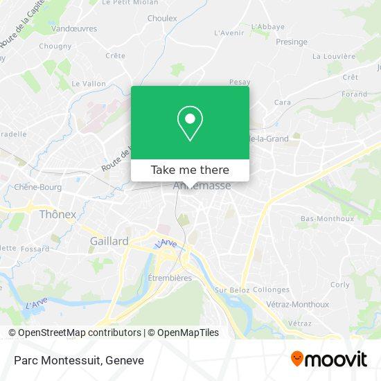 Parc Montessuit map