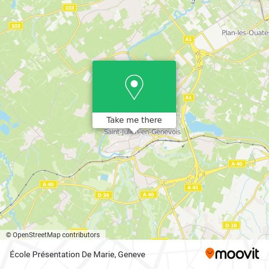École Présentation De Marie map