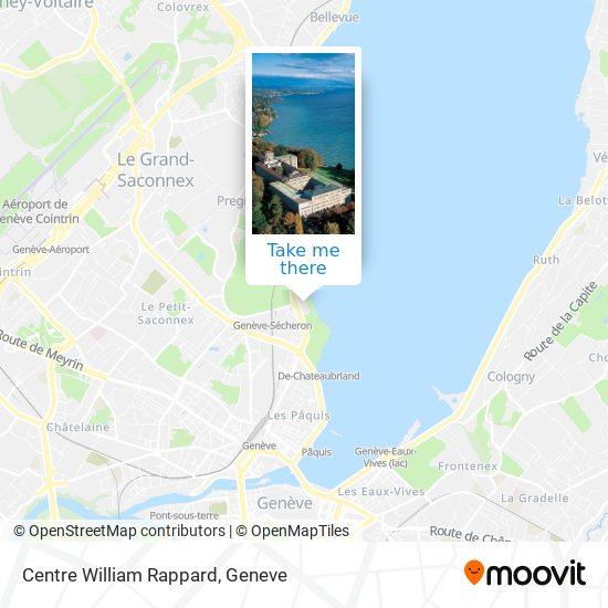 Centre William Rappard map