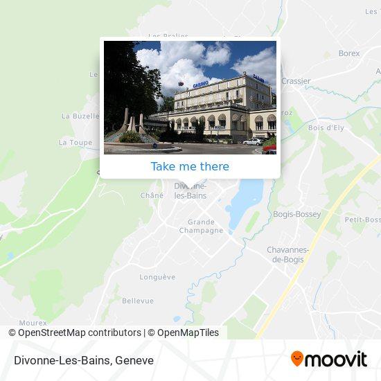 Divonne-Les-Bains map