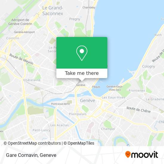 Gare Cornavin map