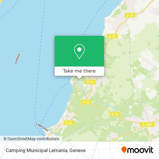 Camping Municipal Lemania map