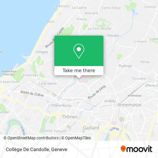 Collège De Candolle map