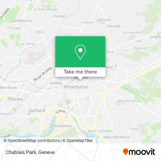 Chablais Park map