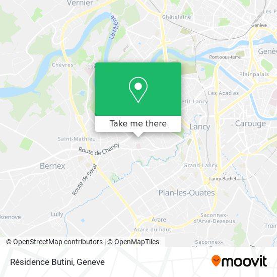 Résidence Butini map
