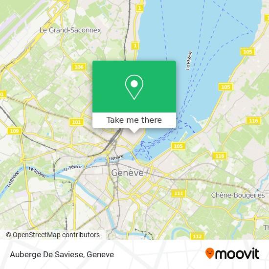 Auberge De Saviese map