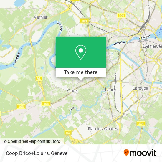 Coop Brico+Loisirs map