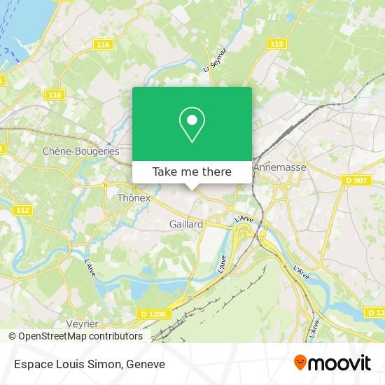 Espace Louis Simon map