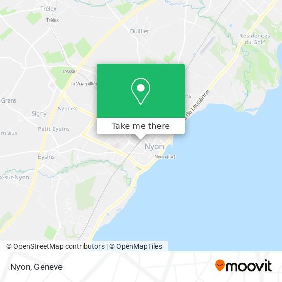 Nyon map