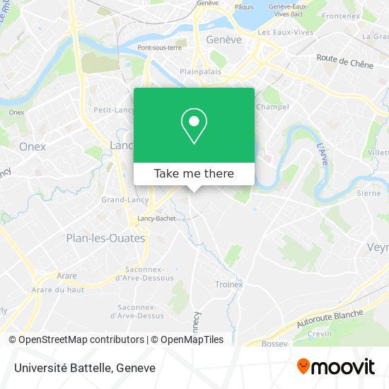 Université Battelle map