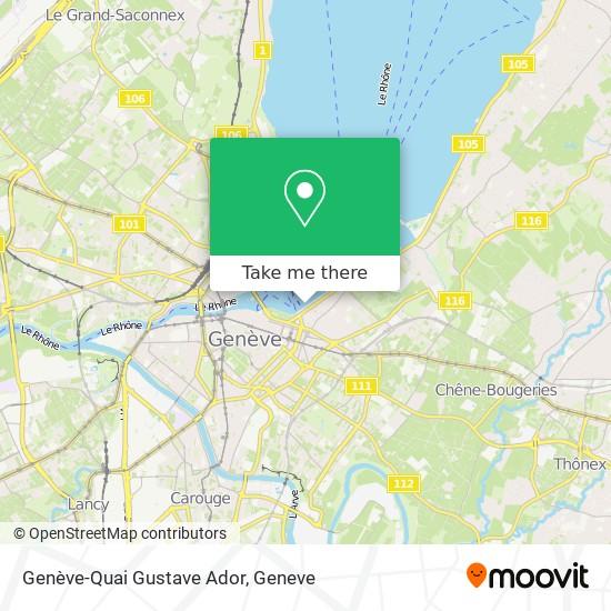 Genève-Quai Gustave Ador map