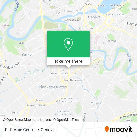P+R Voie Centrale map