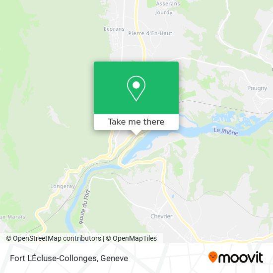 Fort L'Écluse-Collonges map