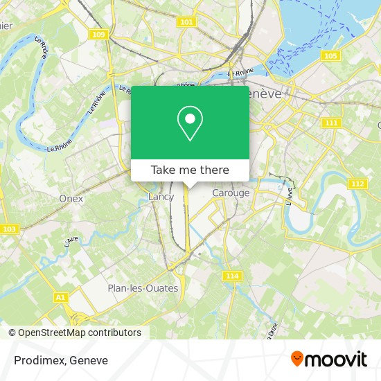 Prodimex map