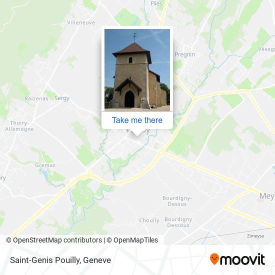 Saint-Genis Pouilly map