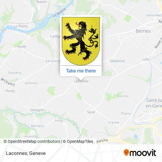Laconnex map