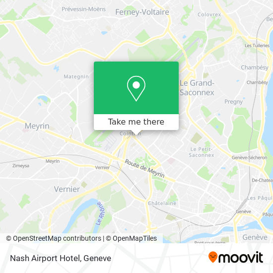 Nash Airport Hotel map