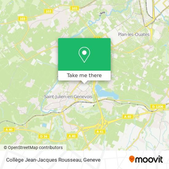 Collège Jean-Jacques Rousseau map