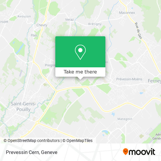 Prevessin Cern map
