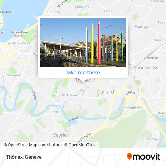 Thônex map